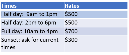 Hours and rates
