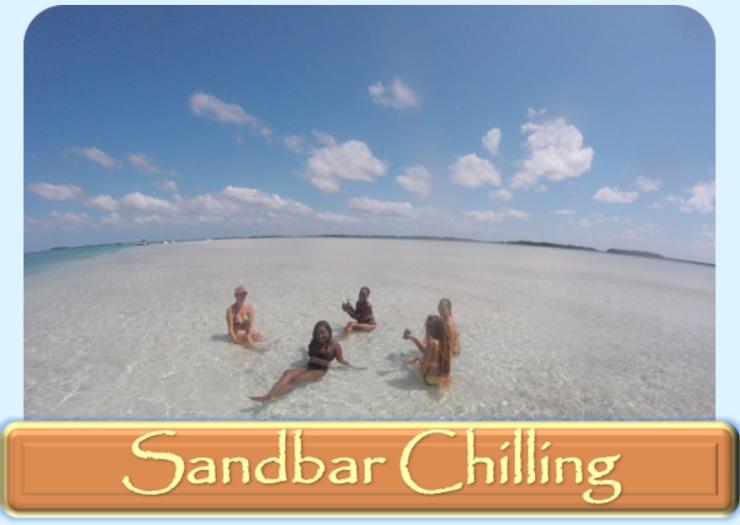 key west sandbar chilling